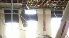IMAGE: Ceiling collapses in Duke classroom