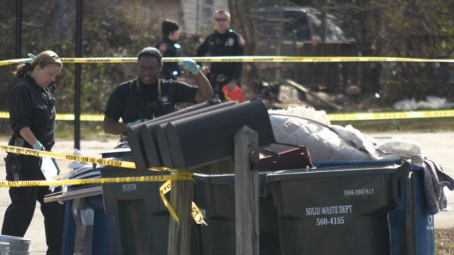 One person was injured after a shooting on Sargant Place in Durham early Sunday afternoon. (WRAL/Zac Gooch)
