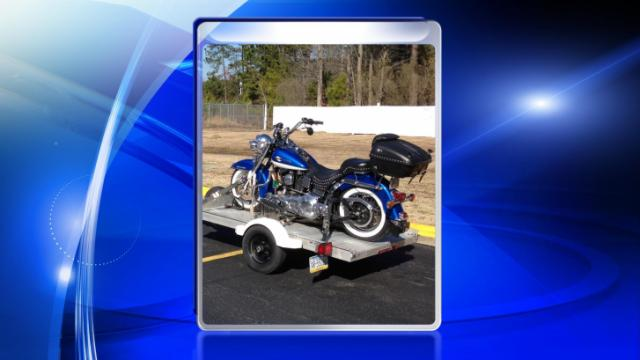 Cumberland County deputies are searching for a motorcycle taken from a disabled veteran.
