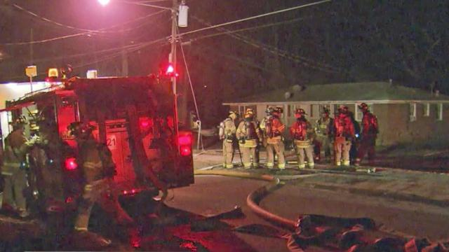 Firefighters responded to a blaze at a duplex on Dacian Road in Raleigh about 1 a.m. Monday. No one was hurt.