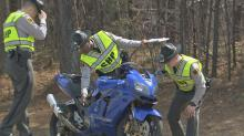 IMAGES: Seven motorcycles involved in wreck on U.S. 64 East near Wendell