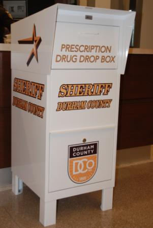 The Durham County Sheriff's Office has installed a medicine drop box in the lobby of the Durham County Courthouse for people to safely get rid of unused prescription and over-the-counter medications.