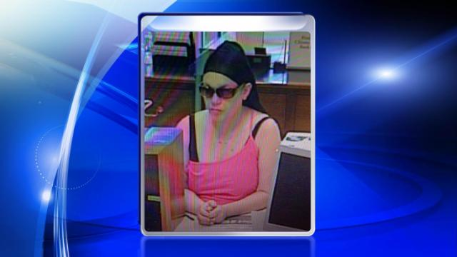 A woman robbed a First Citizens Bank branch in Apex on April 30, 2014.