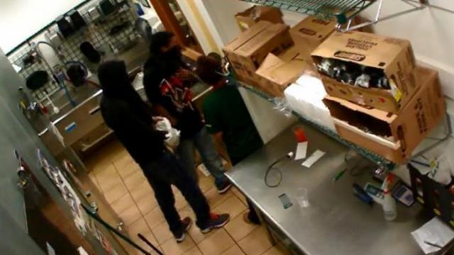 Police are looking for two men wanted in the armed robbery of Subway, at 1310 Fifth Ave., in Garner at 9:05 p.m. on May 12, 2014.