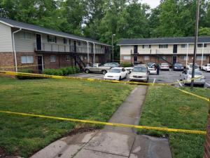 Two people were injured early Friday in a shooting at an apartment complex on East Pilot Street in Durham, police said.