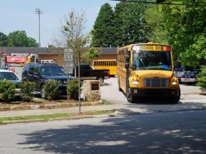 Broughton High School in Raleigh was evacuated and closed Wednesday morning because of a bomb threat, Raleigh police said.