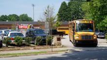 IMAGES: Bomb threat closes Raleigh's Broughton High School