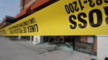 Lots of broken glass but only a scratch resulted Friday, May 30, 2014, after a man ran his SUV into a Durham Denny's.