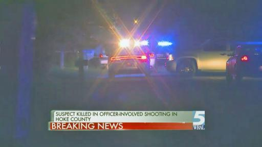 One person was killed early Saturday morning in an officer-involved shooting in Hoke County, sources told WRAL News.