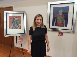 Art in Tortilla, an exhibition by Mexican artist Gloria Hidrogo, opened Friday at the Mexican consulate in Raleigh.
