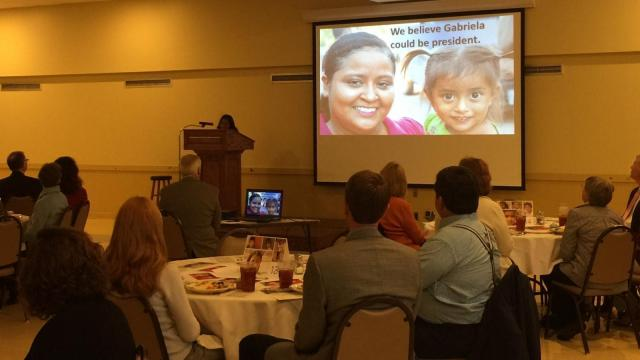 On Monday at First Baptist Church Raleigh, representatives gathered for lunch and fellowship to share the mission of Sharefish: a local organization that helps people break the cycle of poverty in Honduras.