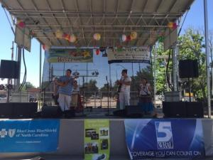 WRAL's Leyla Santiago and Mikaya Thurmond were featured guests at a Cary celebration of Latino culture Saturday afternoon.
