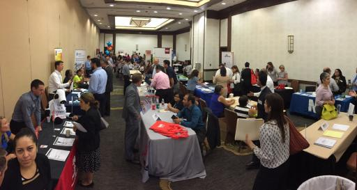 The North Carolina Hispanic Chamber of Commerce on Tuesday hosted a bilingual job fair at the Hilton North Raleigh.