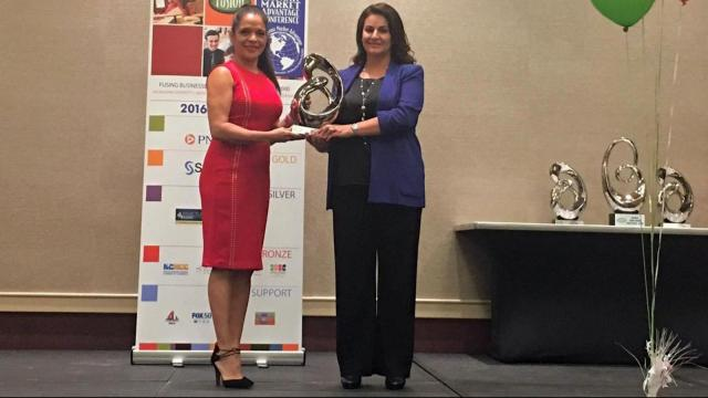 Ana Maria Bonell, Capital Broadcasting Company's Latino Marketing Specialist, was awarded Friday for her dedication to the growth of the Hispanic community.