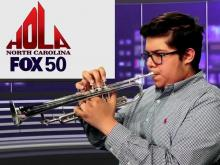Young musician shows his skill
