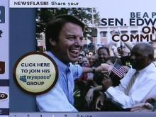 Campaign staffers accidentally launched John Edwards' campaign Web site a day early, then shut it back down later Wednesday.