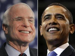 Republican presidential candidate Sen. John McCain, R-Ariz., left, and Democratic presidential candidate Sen. Barack Obama, D-Ill.