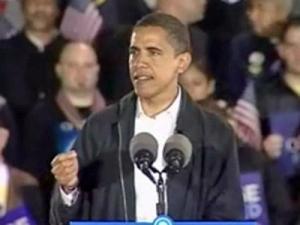 Democrat Barack Obama during a speech in Charlotte on Nov. 3, 2008.