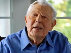 Actor Andy Griffith — TV's sheriff of Mayberry — stars in a reassuring ad about the health care law. (Photo from YouTube)
