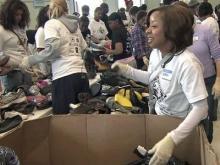 Volunteers honor King through service