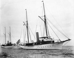 The yacht Oneida on which President Grover Cleveland had his oral cancer removed. (Deseret Photo)