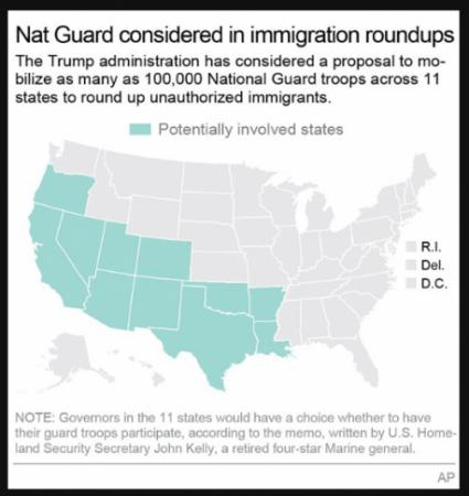 Map: Potential immigration roundup