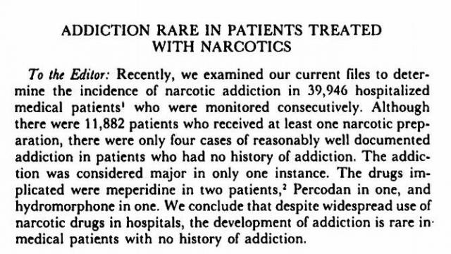 A letter published in the New England Journal of Medicine in 1980 created false confidence that opioid addiction was rare. (Deseret Photo)