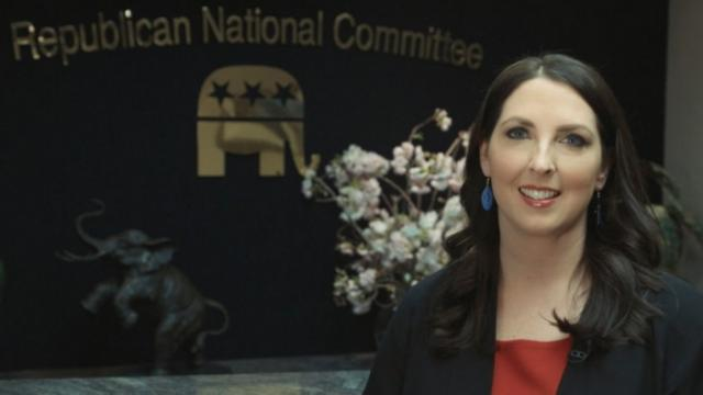 Romney McDaniel is only the second woman to chair the RNC in history and the first in a generation. She was picked by the Republican President she helped elect: Donald Trump.