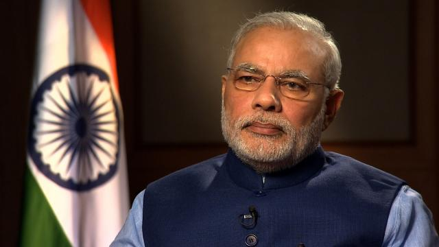 President Donald Trump will look to boost military cooperation between the United States and India when he meets with Prime Minister Narendra Modi at the White House on Monday, June 26, 2017. Pictured is Indian Prime Minister Narendra Modi speaking to CNN's Fareed Zakaria on Sept. 15, 2014.