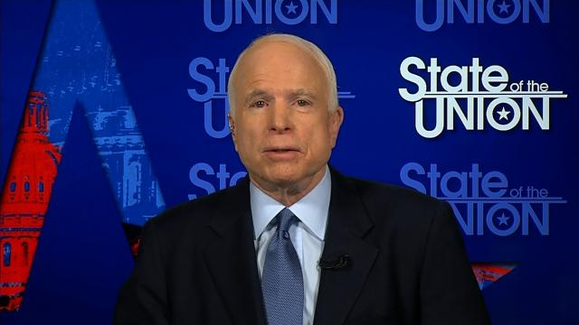 """Senator John McCain's message to US allies confused by mixed messages from the White House on foreign policy was that, """"sometimes it's important to watch what the President does rather than what he says."""""""