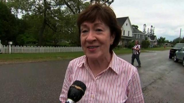 """Sen. Susan Collins told CNN she needs a """"complete overhaul"""" of a health care bill during a quick interview in the Senate hallways on Monday, July 10, 2017."""