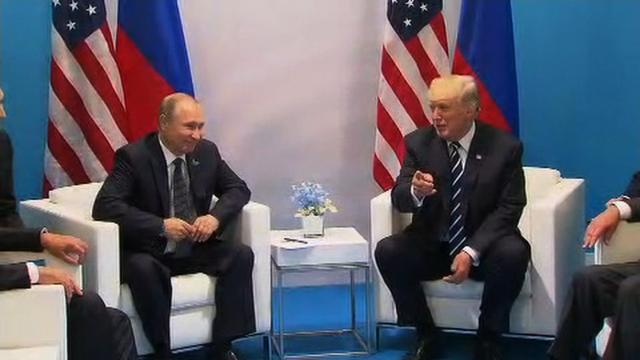 President Donald Trump and Russian President Vladimir Putin began their first official meeting after 4 p.m. local time. They spoke briefly to reporters before starting a closed discussion.
