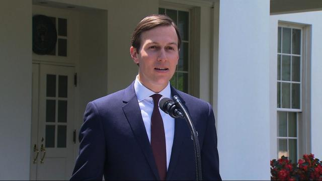 Jared Kushner gives a press conference on July 24, 2017.