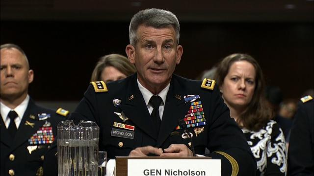 The White House and Pentagon are pushing back against a report that President Donald Trump is weighing firing Gen. John Nicholson, his top commander in Afghanistan.