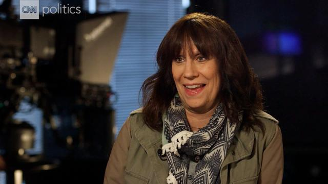 """Comedian Lizz Winstead, the co-creator and former head writer of """"The Daily Show, speaks with CNN's political team in August, 2017."""