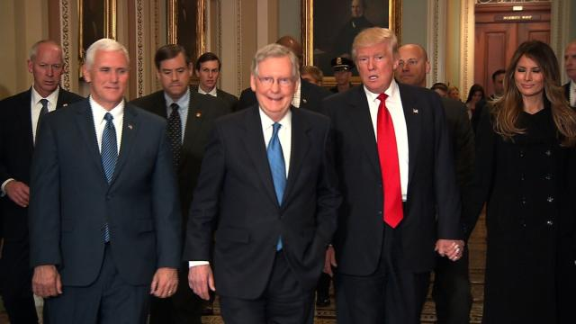 President-elect trump tours the US Capitol with Mitch McConnell