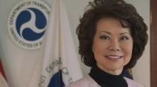 IMAGE: Elaine Chao on Trump's criticism of McConnell: 'I stand by my man -- both of them'