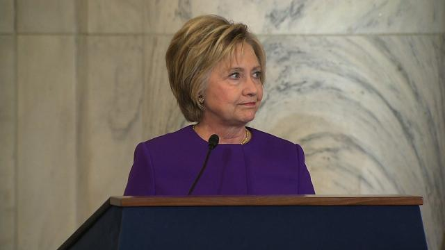 "File- Hillary Clinton, speaking in public for one of the first times since losing the presidential election a month ago, called the proliferation of fake news ""an epidemic."""