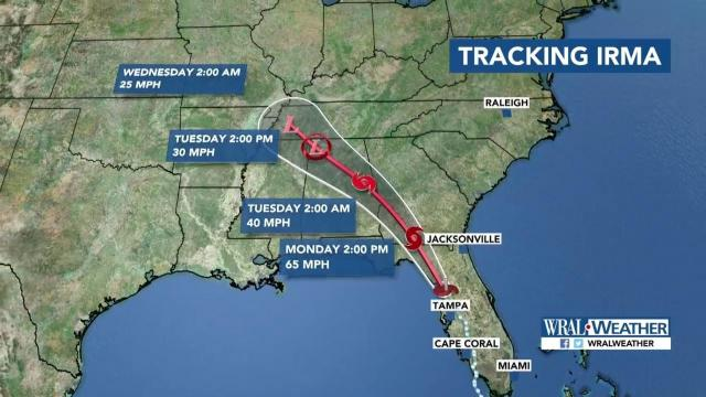 N Carolina governor: Irma could bring flooding, landslides