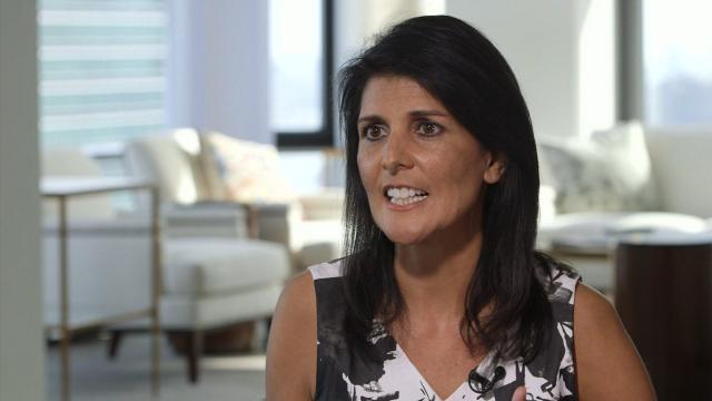 """US Ambassador to the United Nations Nikki Haley said Tuesday that President Donald Trump's announced plan for a path forward in Afghanistan came to be because he """"listened to his generals."""""""