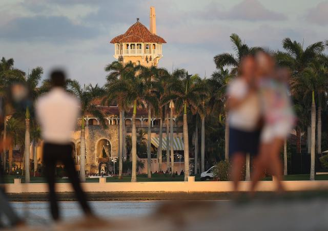 **This image is for use with this specific article only** The US Secret Service says there is no system for tracking visitors to President Donald Trump's Florida resort at Mar-a-Lago, according to new court filings.