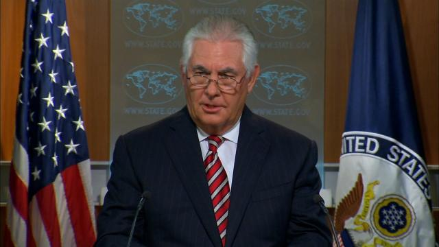 """US Secretary of State Rex Tillerson acknowledged that North Korea has shown a """"level of restraint"""" in not conducting nuclear or missile tests since new UN sanctions were imposed. And he expressed the hope that it was a sign of Pyongyang's readiness to enter talks with Washington """"sometime in the near future."""""""