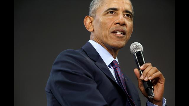 **This image is for use with this specific article only** Former President Barack Obama is expected to report for jury duty in Chicago on Wednesday morning. (FILE)