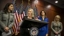 IMAGES: Democratic Women in Senate Call on Franken to Resign