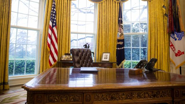 FILE — Two executive orders on the president's desk in the Oval Office of the White House in Washington, March 31, 2017. During his first year, in ways that were once unimaginable, President Donald Trump has discarded the conventions and norms established by his predecessors. (Eric Thayer/The New York Times)