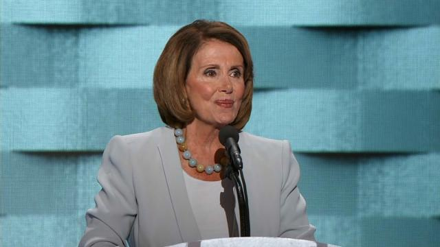 House Democratic Leader Nancy Pelosi addresses the Democratic National Convention in Philadelphia July 28, 2016.