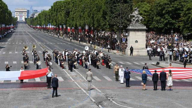 President Donald Trump has asked for a military parade and the Pentagon is reviewing potential dates, Pentagon spokesman Charlie Summers said.