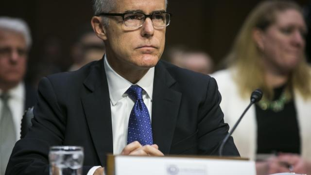 FILE — Andrew McCabe, deputy director of the FBI, testifies on Capitol Hill in Washington, May 11, 2017. McCabe, who was fired on March 16, 2018, kept contemporaneous memos about his interactions with President Donald Trump and his conversations with the former FBI director James Comey, a person close to McCabe said. (Al Drago/The New York Times)
