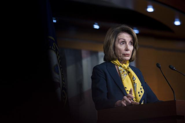 FILE — House Minority Leader Nancy Pelosi (D-Calif.) speaks during a news conference on Capitol Hill in Washington, March 1, 2018. Conor Lamb's victory in Pennsylvania, with his vow to oppose Pelosi, has emboldened other moderate and liberal Democrats to distance themselves from her. (Erin Schaff/The New York Times)
