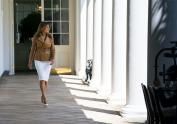 IMAGE: White House Keeps Details of Melania Trump's Health Under Wraps